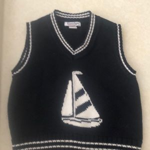 Hartstrings Nautical Colorblock Sweater Romper Baby at the Beach Kitestrings